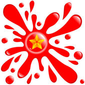 Button blot star isolated on the white — 图库矢量图片