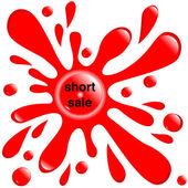 "Button red blot ""short sale"" — Stock Vector"