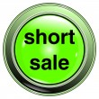 "Stock Vector: Button green ""short sale"""