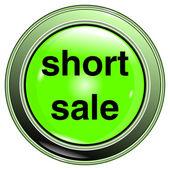 """Button green """"short sale"""" — Stock Vector"""