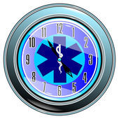 Clock with medical sign vector eps10 — Cтоковый вектор