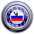 Stock Vector: Clock with flag of Russia