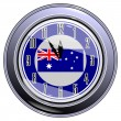 Stock Vector: Clock with flag of Australia