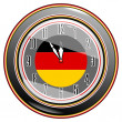 Stock Vector: Clock with flag of Germany