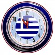 Stock Vector: Clock with flag of Greece