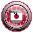 Stockvector : Clock with flag of Japan