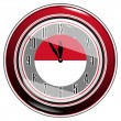 Stock Vector: Clock with a flag of Monaco