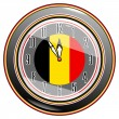 Stock Vector: Clock with flag of Belgium