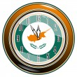 Stock Vector: Clock with flag of Cyprus