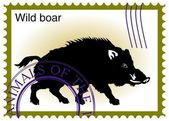 "Ector stamp with ""wild boar"" — Stock Vector"