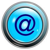 "Button blue ""e-mail"" vector — Stock Vector"