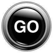 """Button black """"go"""" vector — Stock Vector"""