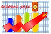 Diagrama com vetor de caneca de cerveja — Vetor de Stock