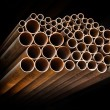 Stock Photo: Metallic pipes