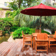 Summer Patio — Stock Photo