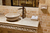 Marble bathroom sink — Stock Photo