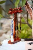 Chinese writing brushes and inkstone — Stock Photo