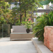 Stock Photo: Backyard Patio in Garden
