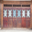 Part of Chinese closed wooden door — Stock Photo #3128661
