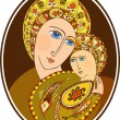 Stock Vector: Mother of God