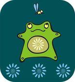 Little frog — Stock Vector