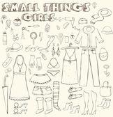 Girl things — Stock Vector