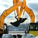 Large yellow construction vehicles — Stock Photo #2784379