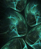 Green-blue substances - compuier generated fractal background — Stock Photo