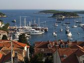 Hvar bay and islands — Stock Photo