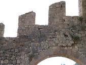 Hvar fortress merlons — Stock Photo