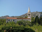 Mountain village church in Croatia — Stock Photo