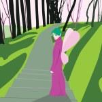 Spring fairy — Stock Vector #2705206