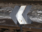 Railway sign — Stock Photo