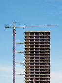 Crane and construction of a building — Stock Photo