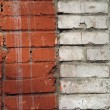 Brickwork joints — Stock Photo