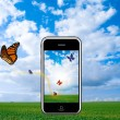 Smartphone technologies iphone — Stockfoto