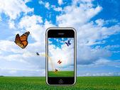 Smartphone technologies iphone — Stock Photo