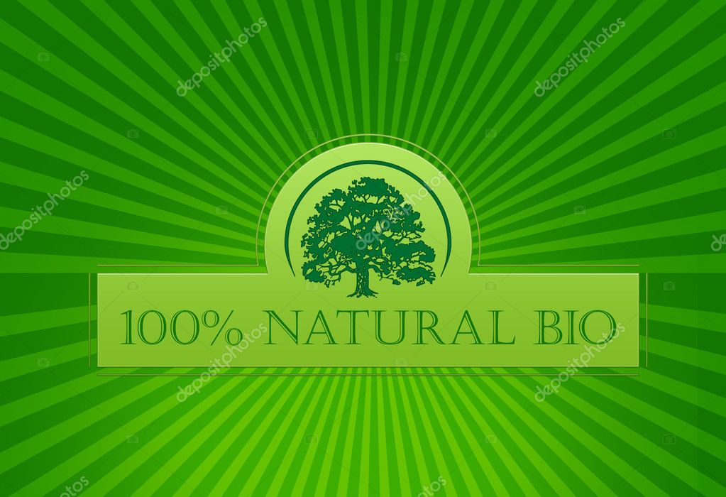 Natural bio 100 %  Stock Photo #2834916
