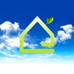 Green home — Stock Photo