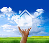 House in hand — Stock Photo