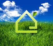 Eco Green home — Stock Photo