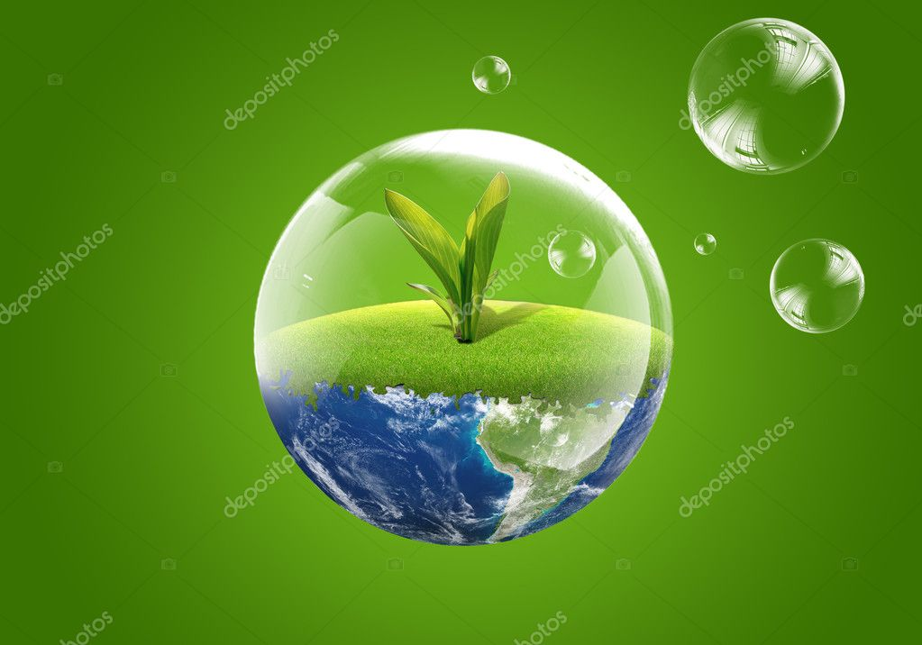Eco green earth. New life — Stock Photo #2998872