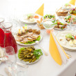 Stock Photo: Served table