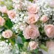 Bouquet of gently pink roses — Stock Photo