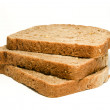 Three slices of brown bread — Stock Photo