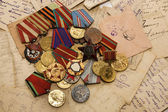 Medals and letters — Stock Photo