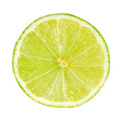 Half of lime — Stock Photo