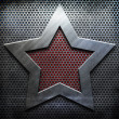 Silver Woden  Metal star Texture — Stock Photo