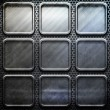 Stock Photo: Metal template background