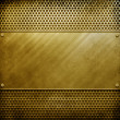 Royalty-Free Stock Photo: Metal template background (golden pack)